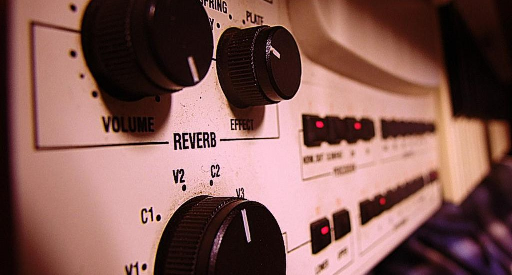 A hardware reverb unit