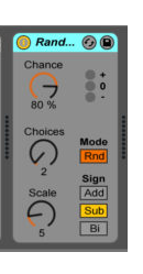 Sound design using randomisation