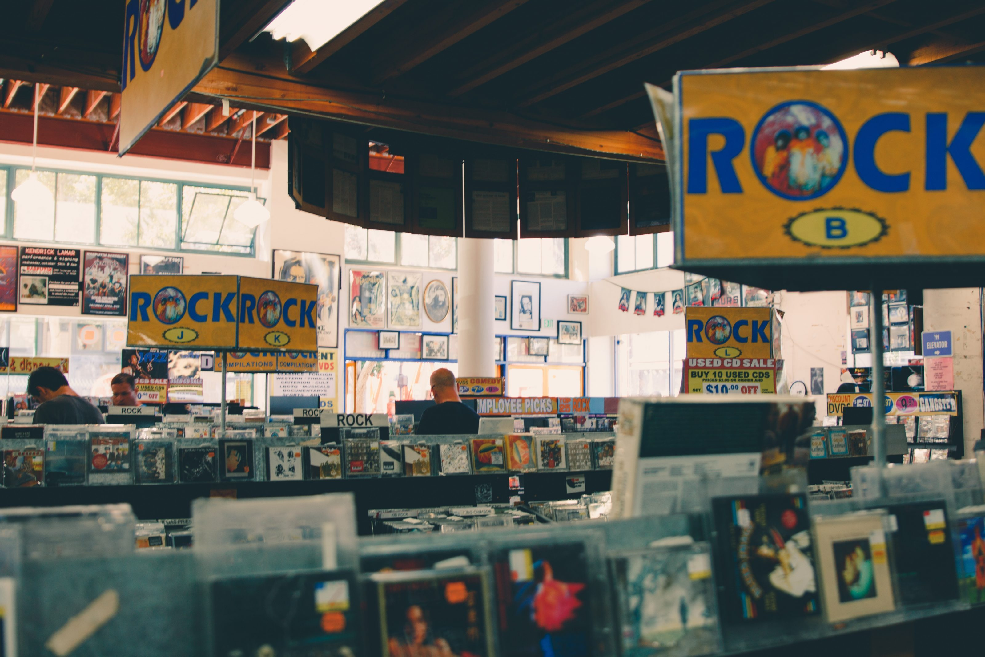 music distribution record store