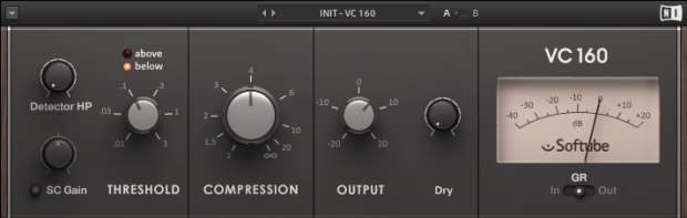An image of one of many VCA audio compressors