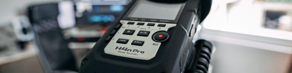 A Zoom H4 field recorder, best friend of a music producer.