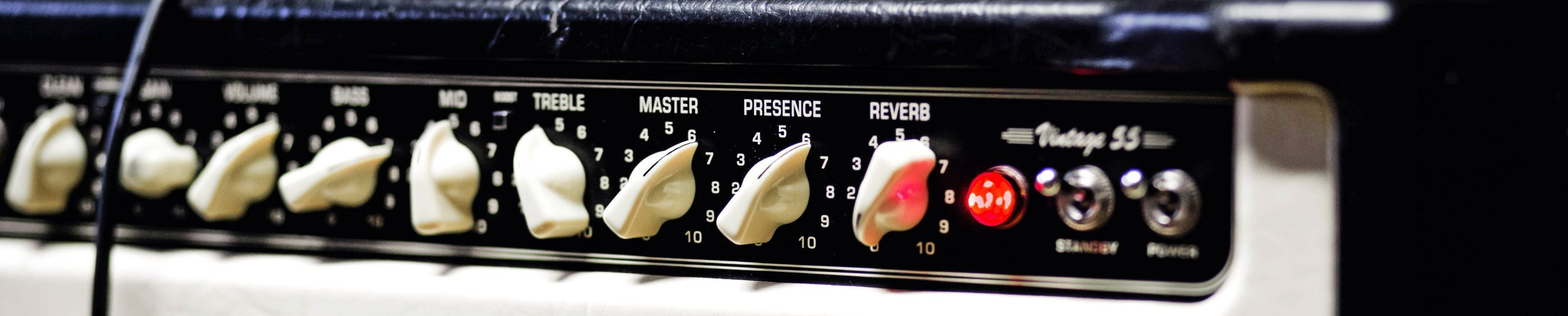 A modern guitar amp used for adding distortion and saturation to an electric guitar