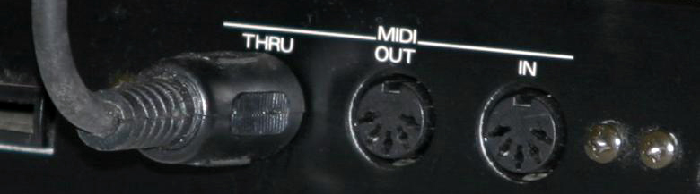 MIDI input and output interface with midi audio cables