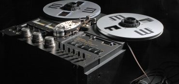 An old Technics reel-to-reel tape deck, used for creating luscious saturation.
