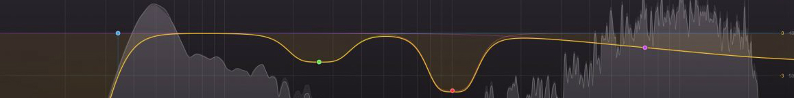 An EQ using subtractive cuts to clean up a muddy mix