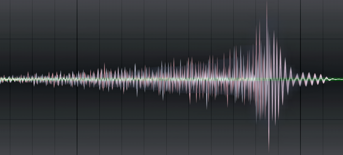 An visual example of reverse reverb, one of the most popular music transitions