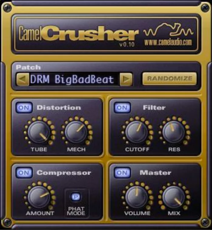 CamelCrusher distortion plugin