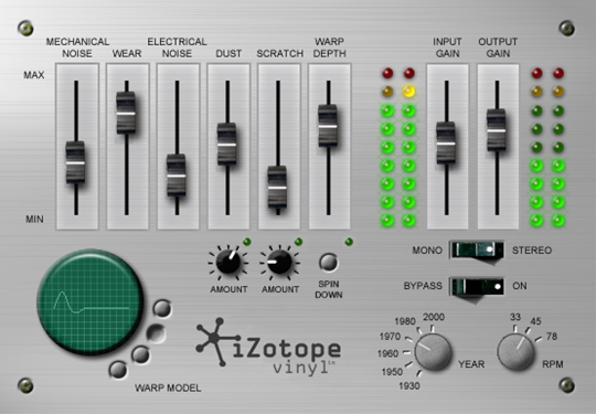 The Izotope Vinyl free VST plugin