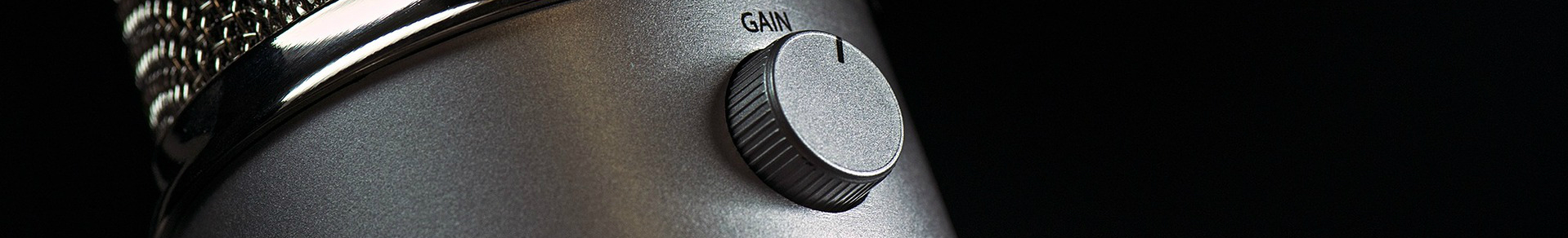 An audio unit gain knob