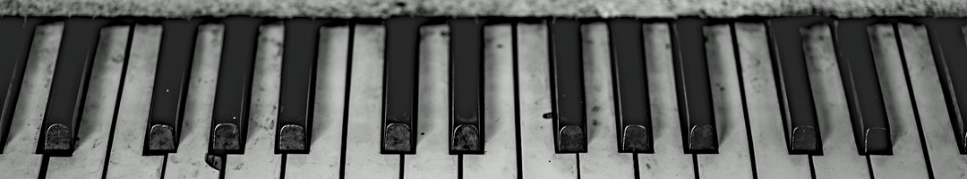 An old black & white piano