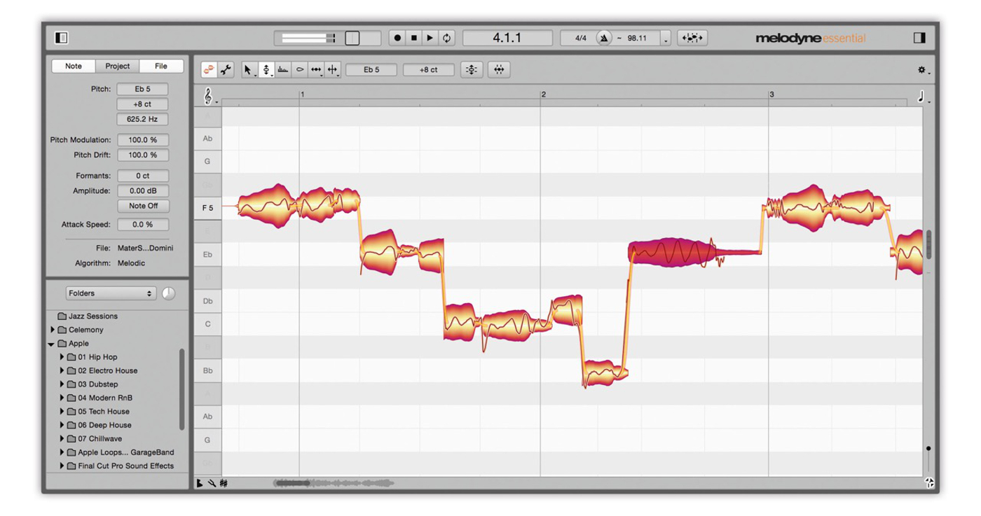 melodyne pitch correction