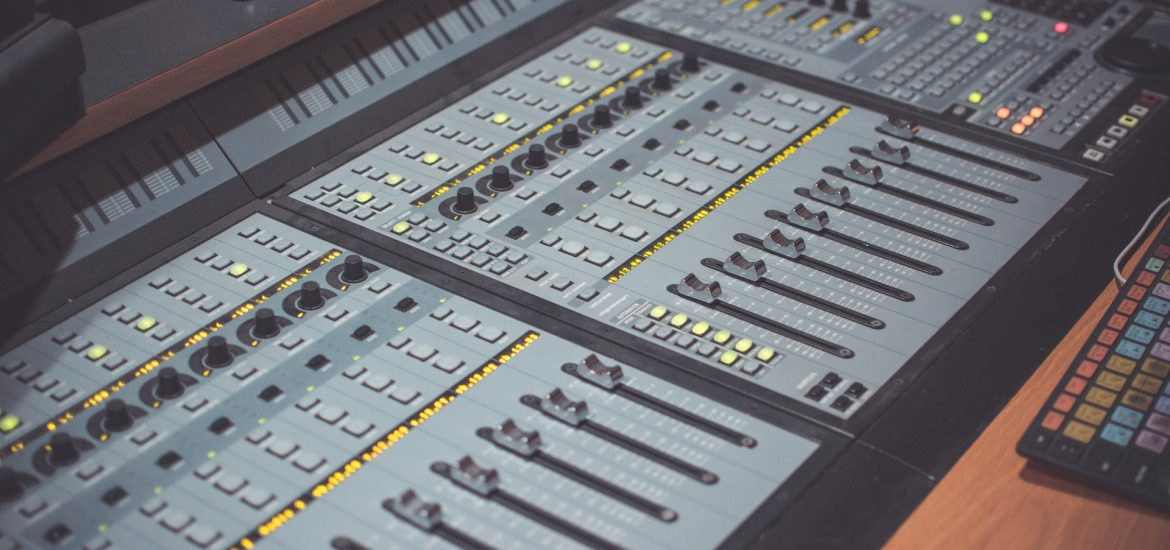 A studio production console
