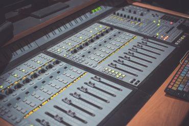 A studio production console