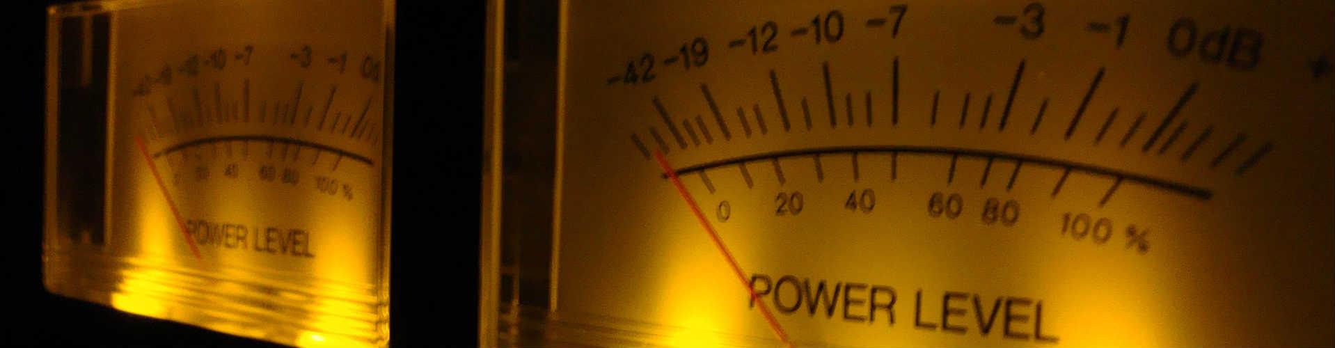 A stereo VU Meter