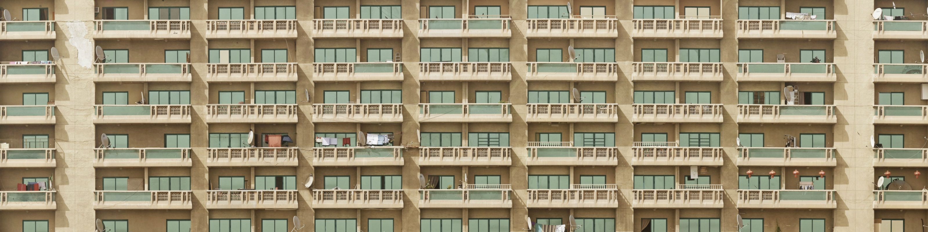 An apartment block