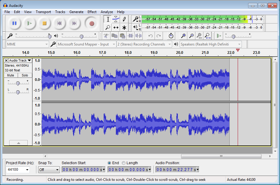 audacity audio editing