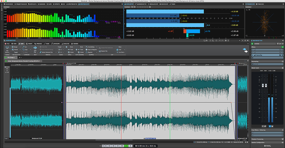 wavelab audio editing