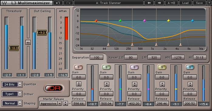 waves multi-band audio limiter