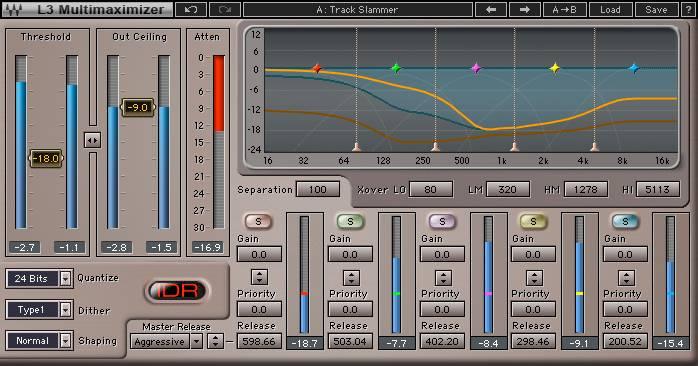 waves multi-band audio limiter
