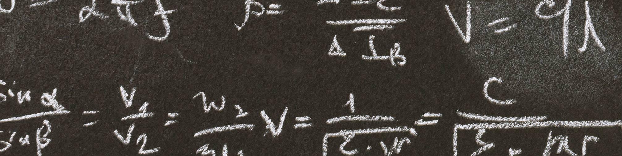 Formula on a blackboard