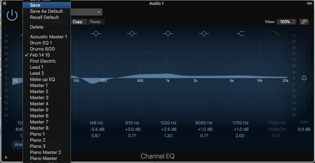 plugin presets EQ