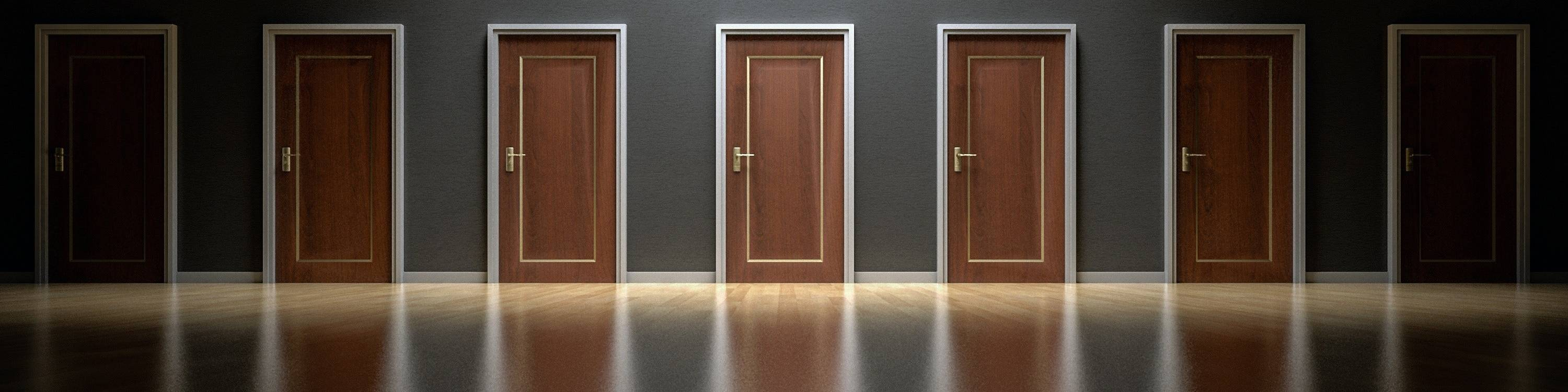 A room full of doors, the decision is yours!