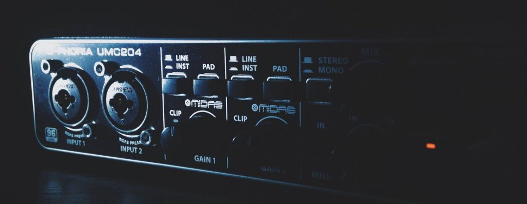 home studio equipment interface