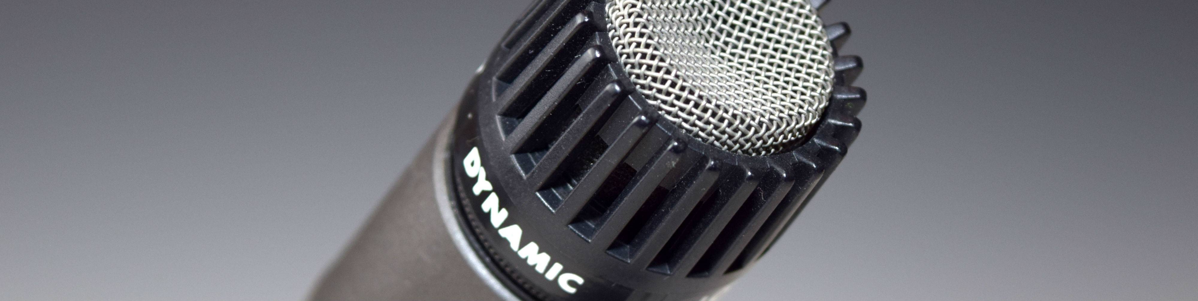 A Shure SM57 dynamic microphone