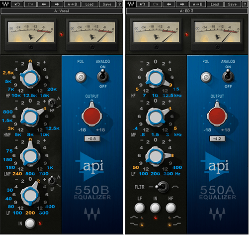 eq plugins waves api 550