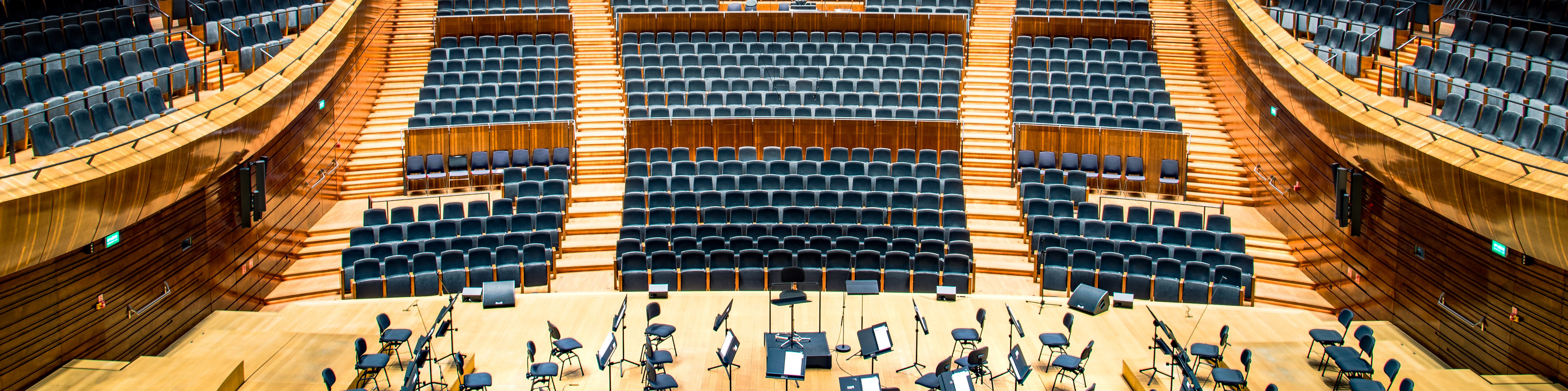 A large performance hall with plenty of reverb